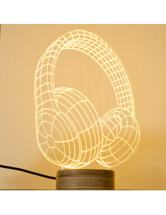 Lampe Bulbing HEADPHONE 3D Lumière Led