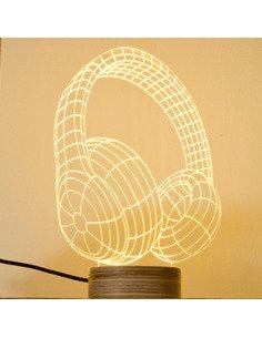 Lampe Bulbing HEADPHONE 3D Lumière Led
