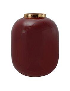 Vase Art Deco 345 | Kayoom | Prune et or