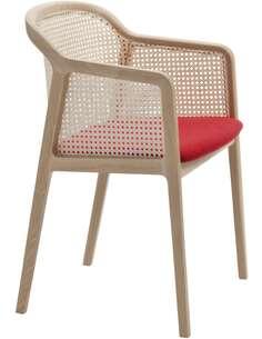 Chaise Vienna   Skandica   Hêtre et rouge