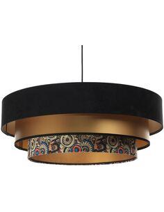 Suspension Triniti   BPS Koncept   Noir intérieur doré et décoration