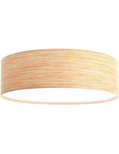 Plafonnier Natural   BPS Koncept   Mesh aspect bois clair intérieur blanc
