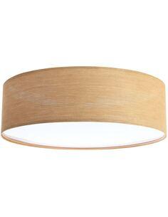 Plafonnier Natural | BPS Koncept | Mesh aspect bois intérieur blanc