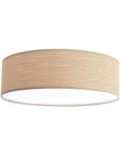 Plafonnier Natural | BPS Koncept | Mesh aspect bois chêne intérieur blanc