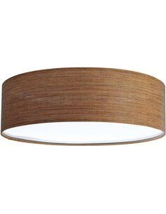 Plafonnier Natural | BPS Koncept | Mesh aspect bois foncé intérieur blanc