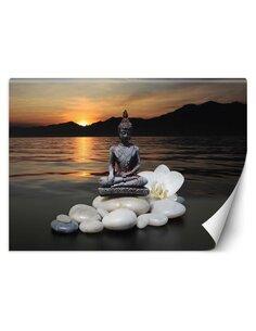 Papier peint Bouddha sur le fond d'un lacL | Feeby | Marron
