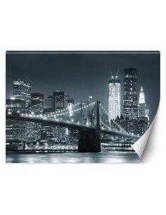 Papier peint Pont de Brooklyn de New York noir et blancL | Feeby | Noir et blanc
