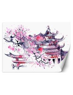 Papier peint Pagodes japonaisesL | Feeby | Violet