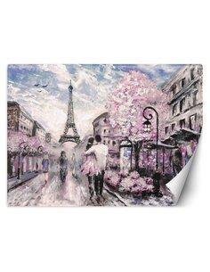 Papier peint Paris au printempsL | Feeby | Rose