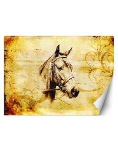 Papier peint Croquis d'un chevalL | Feeby | Marron