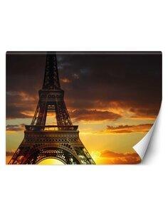 Papier peint Tour Eiffel au coucher du soleilL | Feeby | Marron