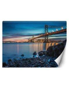 Papier peint Le pont de San FranciscoL | Feeby | Bleu