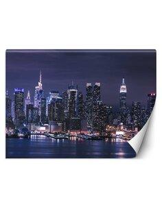 Papier peint New York la nuitL | Feeby | Violet