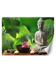 Papier peint Figurine d'un Bouddha ZenL | Feeby | Vert