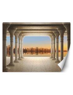Papier peint Colonnade avec vue sur la villeL   Feeby   Beige