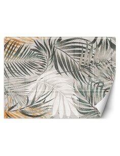 Papier peint Feuilles tropicalesL | Feeby | Gris