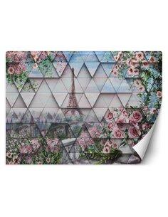 Papier peint Tour Eiffel au printempsL | Feeby | Rose
