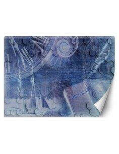 Papier peint Le temps qui passeL   Feeby   Bleu