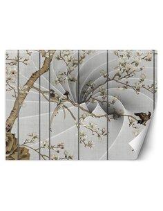 Papier peint Oiseaux sur un arbreL | Feeby | Marron
