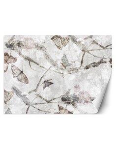 Papier peint Papillons aquarellesL   Feeby   Beige