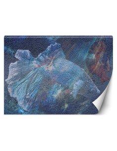 Papier peint Abstraction de la merL | Feeby | Bleu