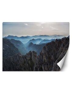 Papier peint Sommets des montagnes dans les nuagesL | Feeby | Bleu