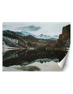 Papier peint Lac dans les montagnesL   Feeby   Marron