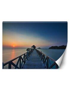 Papier peint Vue sur le coucher de soleilL | Feeby | Bleu