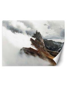 Papier peint Montagnes dans les nuagesL | Feeby | Marron