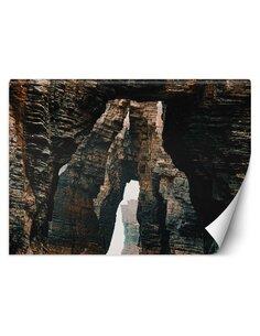 Papier peint Tunnel dans les rochersL | Feeby | Marron