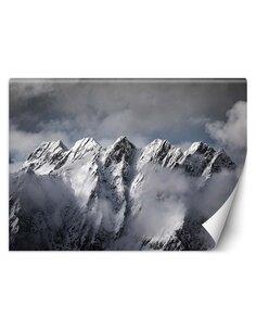 Papier peint Montagnes en hiverL | Feeby | Gris