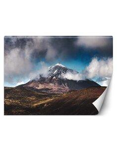 Papier peint Sommet de montagne dans les nuagesL   Feeby   Marron