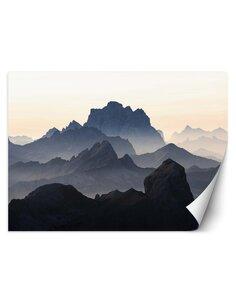 Papier peint Montagnes dans le brouillardL | Feeby | Marron