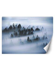 Papier peint Forêt brumeuseL | Feeby | Gris