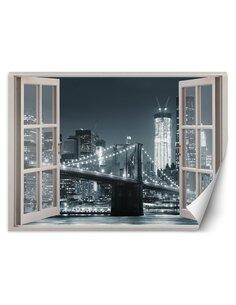 Papier peint Pont de Brooklyn de New York City noir et blancL | Feeby | Noir et blanc