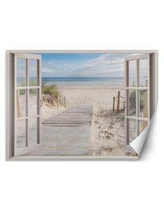 Papier peint vue sur la plageL | Feeby | Beige