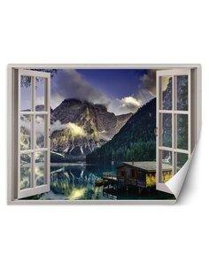Papier peint vue sur un lac dans les montagnesL | Feeby | Multicolore