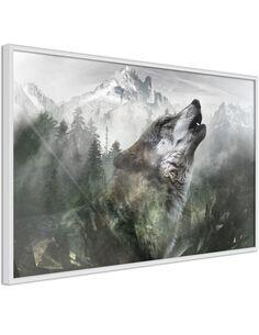Tableau cadre Le territoire du loup