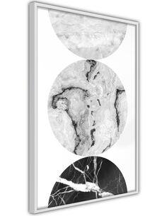 Tableau cadre Trois nuances de marbre