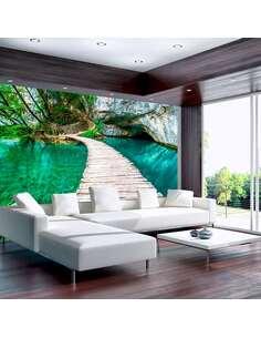 Papier peint adhésif Parc national des lacs de plitvice | Artgeist | Vert, beige, bleu