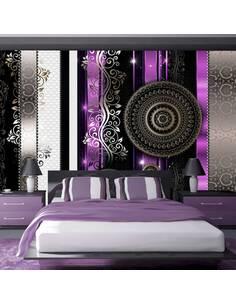 Papier peint adhésif Harmonie violette du désespoir   Artgeist   Noir, violet, beige, blanc, doré