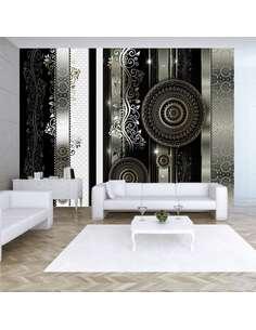 Papier peint adhésif Harmonie du désespoir | Artgeist | Gris, noir, blanc