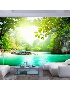 Papier peint adhésif Paradis | Artgeist | Vert, turquoise