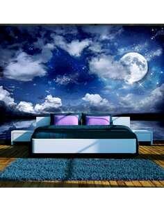Papier peint adhésif Nuit magique | Artgeist | Bleu marine, blanc