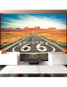 Papier peint adhésif Route 66 | Artgeist | Blanc, orange, gris, jaune, bleu
