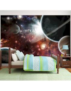 Papier peint adhésif Marcher dans l'espace | Artgeist | Brun, noir, blanc