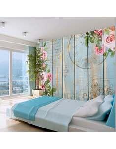Papier peint adhésif Jardin d'antan | Artgeist | Azuré, rose, vert, crème, brun