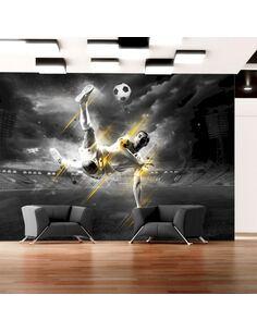 Papier peint adhésif Légende du football | Artgeist | Noir et blanc, doré
