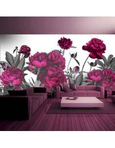 Papier peint adhésif Prairie luxuriante | Artgeist | Rouge, vert, blanc