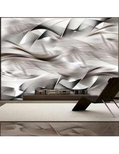 Papier peint adhésif Tresse abstraite | Artgeist | Gris, blanc
